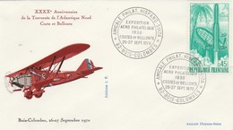 40 Ans Traversée Atlantique Nord - Exposition Philatélique Hispano Suiza Bois Colombes 26 27/9/1970 - Flugzeuge