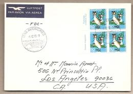 Svizzera - Busta FDC Viaggiata Per Gli USA: Pro Patria - 1970 - Pro Patria