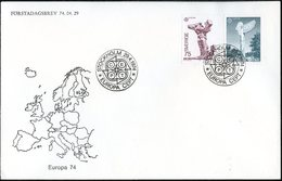 Suède - Sweden - Schweden FDC 1974 Y&T N°831 à 832 - Michel N°852 à 853 - EUROPA - FDC