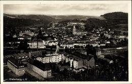 Cp Elsterberg An Der Weißen Elster Vogtland, Fliegeraufnahme Der Stadt, Kirche, Berge - Deutschland