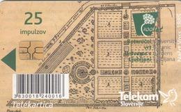 SLOVENIA - 200 Let – Botanični Vrt V Ljubljani 1810 - 2010, Chip:GEM5 (Black), Tirage 12000, 10/10, Used - Slovénie