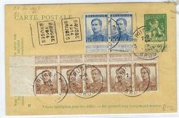 BELGIQUE 1914: Les Y&T 113 Et 125  Sur Carte Postale (entier à 5c.) De Bruges Pour L'Allemagne (port Total De 2,30 Fr.) - Belgique
