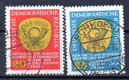 "(DDR-BM1) DDR  ""Konferenz Der Minister Des Post- U. Fernmeldewesens..."" Mi 686/87 Sauber Gestempelt - [6] Democratic Republic"