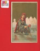 Orléans Chaussures Foiret  Jolie Chromo Femme EGYPTE Pyramides Mer Rouge Corail - Trade Cards