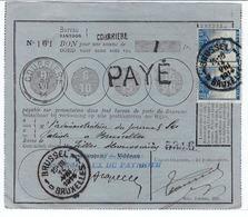 BELGIQUE 1914: Le Y&T 125  Sur Un Bon Postal De 1Fr  Payé 50c, Par 2 Timbres à 25c. - Belgique
