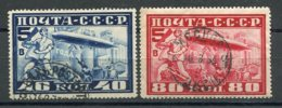 RUSSIE -  Yv N° PA 20,21 Dent 12  (o)  Zeppelin   Cote  42  Euro  BE  2 Scans - 1923-1991 USSR