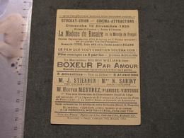 STOCKAY - DIMANCHE 18/11/1928 - STOCKAY UNION-CINEMA ATTRACTION - 2 FILMS LA MADONE DU ROSAIRE ET BOXEUR PAR AMOUR - Programmes