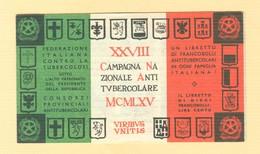 """""""XXVIII^  CAMPAGNA NAZIONALE FRANCOBOLLO ANTITUBERCOLARE""""1965 -LIBRETTO COMPLETO,NUOVO - Malattie"""