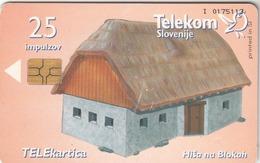 SLOVENIA - Hiša Na Blokah / Tloris, Chip:GEM5 (Black), Tirage 20000, 10/98, Used - Slovénie