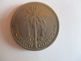Congo Belge 1 Franc 1926 (légende Flamand) - Congo (Belgisch) & Ruanda-Urundi