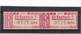 DDR, Dienst, Einschreibemarken  Ax 25-1**  Mi. 15,- Euro (T 14190) - Oficial