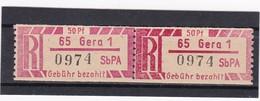DDR, Dienst, Einschreibemarken  Ax 65-1**  Mi. 15,- Euro (T 14191) - Oficial