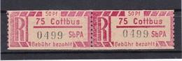 DDR, Dienst, Einschreibemarken  Ax 75**  Mi. 15,- Euro (T 14192) - Oficial