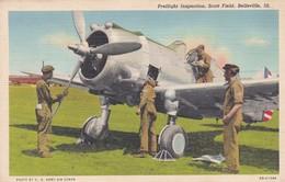 Aviation Avion Plane Prelight Inspection Scott Field Belleville - 1939-1945: 2ème Guerre