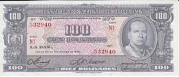 BILLETE DE BOLIVIA DE 100 BOLIVIANOS DEL AÑO 1945  SERIE N1 SIN CIRCULAR-UNCIRCULATED  (BANKNOTE) - Bolivia