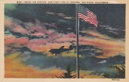 Aviation Avion Plane Naval Air Station Our First Line Of Defense San Diego California - 1939-1945: 2ème Guerre