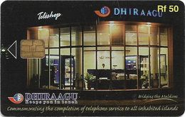 Maldives - Dhiraagu (chip) - Teleshop - 2MLDGIF - Chip Siemens S37, 50MRf, Used - Maldive