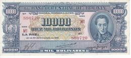 BILLETE DE BOLIVIA DE 10000 BOLIVIANOS DEL AÑO 1945 SERIE M1 CALIDAD EBC (XF)  (BANKNOTE) - Bolivia