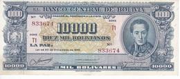 BILLETE DE BOLIVIA DE 10000 BOLIVIANOS DEL AÑO 1945 SERIE T1 CALIDAD MBC (VF)  (BANKNOTE) - Bolivia
