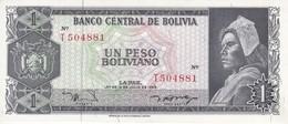 BILLETE DE BOLIVIA DE 1 BOLIVIANO DEL AÑO 1962 SERIE T CALIDAD EBC (XF)  (BANKNOTE) - Bolivia