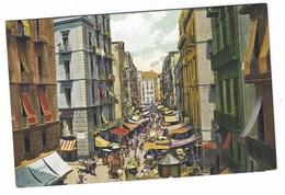 3161 - NAPOLI UNA STRADA A BORGO LORETO ANIMATA 1920 DISEGNATA - Napoli (Naples)