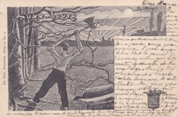 Carte Du Luxemboug Signée Ottmann Circulée - Andere