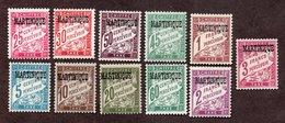 Martinique Taxes N°1/11 N* TB Cote 77 Euros !!! - Timbres-taxe
