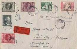 DR Wertbrief Mif Minr.799,817,822,847,848.849 Berlin 28.4.43 - Briefe U. Dokumente