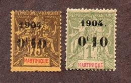 Martinique  N°57,58 N* TB Cote 48 Euros !!!RARE - Martinique (1886-1947)