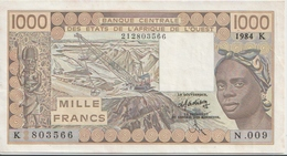 WEST AFRICAN STATES P. 707Kd 1000 F 1984 VF - Senegal