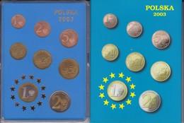 POLONIA - COLECCION DE 8 MONEDAS DE PRUEBA DE EURO DEL AÑO 2003 EN SU ESTUCHE ORIGINAL - Falkland Islands