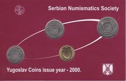 YUGOSLAVIA - COLECCION DE 4 MONEDAS DEL AÑO 2000 EN SU ESTUCHE ORIGINAL - Yugoslavia