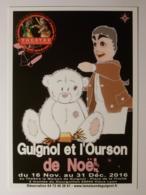 GUIGNOL DE LYON - Marionnette - Ourson De Noel / Nounours Avec Papillote - Carte Postale Publicitaire Théâtre Guignol - Théâtre