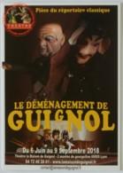 GUIGNOL DE LYON / MARIONNETTE - Déménagement De Guignol - Carte Publicitaire - Théâtre