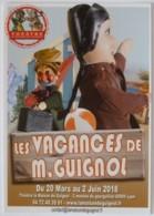 GUIGNOL DE LYON / MARIONNETTE - Vacances De Monsieur Guignol - Valise / Ballon - Carte Publicitaire - Théâtre