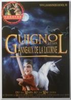 GUIGNOL DE LYON - Marionnette - Licorne / Anneaux - Carte Postale Publicitaire Spectacle Théâtre Guignol - Théâtre