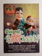 GUIGNOL DE LYON - Marionnette - PERE NOEL // SANTA CLAUS - 1001 Nuits Noël - Carte Postale Publicitaire Théâtre Guignol - Santa Claus