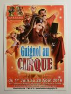 GUIGNOL LYON / MARIONNETTE - Guignol Au Cirque - Carte Publicitaire Théatre Guignol - Théâtre