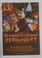 GUIGNOL DE LYON - Marionnette - Les Cousins Débarquent - Carte Postale Publicitaire Spectacle Théâtre Guignol - Théâtre