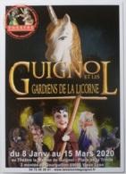 GUIGNOL DE LYON - Marionnette - Licorne / Gardiens - Carte Postale Publicitaire Spectacle Théâtre Guignol - Théâtre