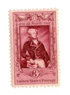 Etats Unis D'Amérique USA  1957   US 633 Marquis De Lafayette 1757 1834  Généraux | Hommes | Personnalités | Politiciens - Stati Uniti