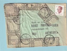 Beschadigde Brief Met Etiketten Bestuur Der Posterijen 1983 - 1981-1990 Velghe