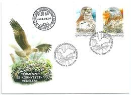 B7111 Hungary FDC Fauna Animal Bird-of-Prey Nature Protection - Eagles & Birds Of Prey