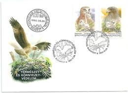 B7112 Hungary FDC Fauna Animal Bird-of-Prey Nature Protection - Eagles & Birds Of Prey