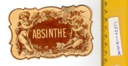 3  XIX Ième Etiquette  LITHO Labels - 1880 APROXIMATIVE _ ABSINTHE Killer Drug  - Old Originals - NISSOU PALYART - Autres