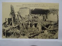 CPA 13 Tremblement De Terre Du 11 Juin 1909  VERNEGUES Ilot De Maisons éboulés Par L'écroulement Du Chateau BE Un Peu Dé - Autres Communes