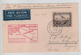 REF291/ TPA 6 S/CP Avion BXL 1/6/1938 > Suisse - Marcophilie