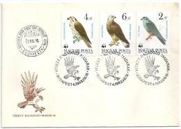 B7138 Hungary FDC Fauna Animal Bird-of-Prey - Eagles & Birds Of Prey
