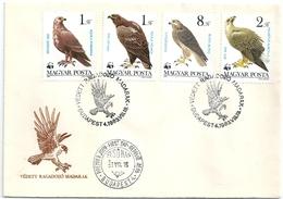 B7139 Hungary FDC Fauna Animal Bird-of-Prey - Eagles & Birds Of Prey