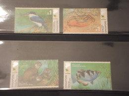 SINGAPORE - 2000  FAUNA 4 VALORI - NUOVI(++) - Singapore (1959-...)